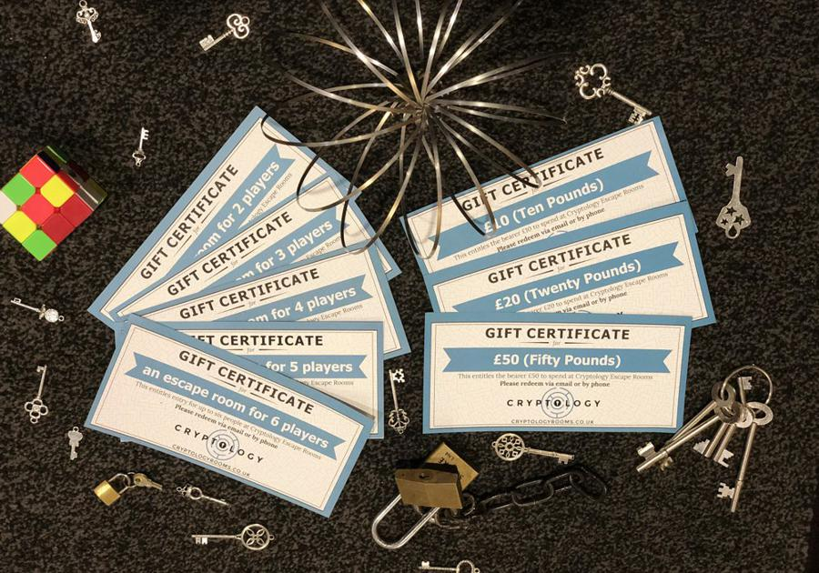 Cryptology Gift Vouchers>